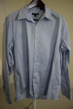 DKNY 100% Cotton Blue Spread Collar Dress Shirt Size - Extra Large