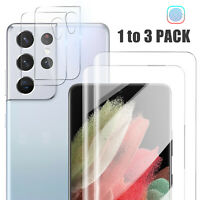HD Full Cover Hydrogel Screen Protector Film For Samsung Galaxy S21 Ultra S21+