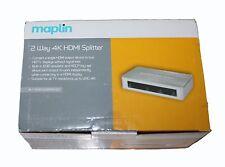 Maplin in alluminio 2 vie splitter HDMI RRP £ 44.99