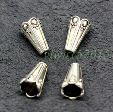 Tibetan Silver Spacer Bail Beads Charms Jewelry Making 12x8mm 30-1000pcs 1g F#