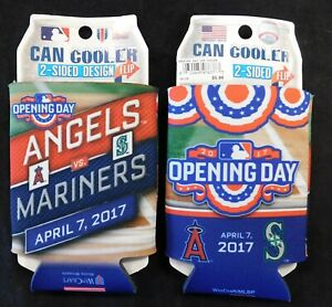 Los Angeles Angels Lot Of 2 Opening Day 2017 Can Koozie Drink Cooler Holder