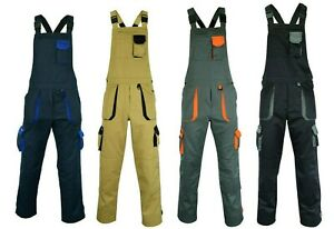 Overalls Painters Bib and Brace Cargo Workwear Dungaree Suit Professional