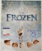 Josh Gad signed Frozen 16x20 Photo + Inscription Voice of Olaf ~ PSA/DNA COA