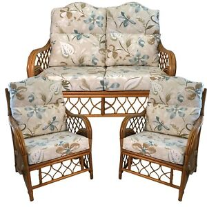 """REPLACEMENT CUSHIONS/COVERS FOR """"HUMP TOP"""" CANE CONSERVATORY FURNITURE (PIPED)"""