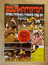 Southampton v West Ham United 4th January 1975 FA Cup Official Matchday Magazine