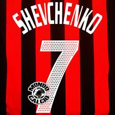 SHEVCHENKO PERSONALIZZAZIONE MILAN HOME NOME E NUMERO KIT SET NAME 2002-03