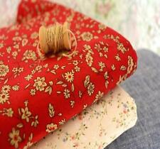 Lovely Japanese Tiny Country Flowers Buds 100% Cotton Fabric On Red Clothing FQ