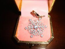 NEW JUICY COUTURE 2008 SNOWFLAKE CHARM FOR BRACELET/NECKLACE