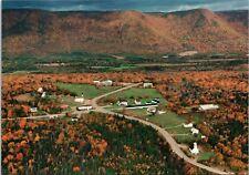 Cape North Cabot Trail Cape Breton NS Nova Scotia Aerial Vintage Postcard D34