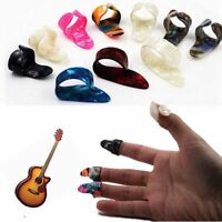 4Pcs/set Guitar Picks Fingertip Plectrums Set Sheath Guitar Accessories
