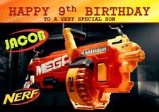 personalised birthday card Nerf any name/age/relation