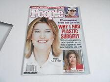 FEB 18 2002 PEOPLE magazine (NO LABEL) UNREAD - GRETA VAN SUSTEREN