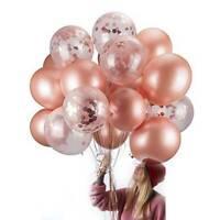 """20PCS 12"""" Rose Gold Air Ballon Confetti Balloon Birthday Wedding Party Decor"""