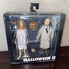 """NECA Halloween II Laurie Strode & Dr. Loomis 8"""" Clothed Figures"""