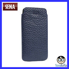Sena Ultraslim Classic Leather Pouch for iPhone 8 Plus/ 7 Plus/ 6s Plus Navy