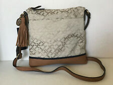 NEW! TOMMY HILFIGER KHAKI BROWN MESSENGER CROSSBODY SLING BAG PURSE $69 SALE