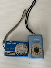 Nikon Coolpix S220 Camera And Canon Power Shot SD1300 Lot