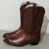 Durango Brown Leather Men Western Cowboy Boots Made in USA 14D
