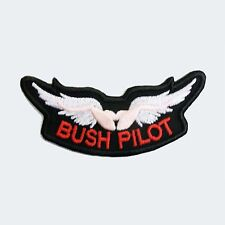 Bush pilot wings embroidered patch iron on and sew on cloth badge