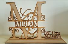 """Free standing Personalised """"GRADUATION"""" MDF blank craft Plaque/sign"""