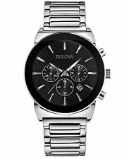 Bulova Men's 96B203 Quartz Chronograph Black Dial Bracelet 41mm Watch