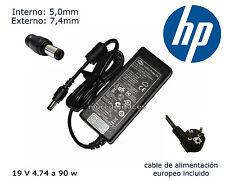 CARGADOR HP 6710S PAVILION DV6-1270ss DV6-2100 DV 90W 19V 4.74 amperios + CABLE