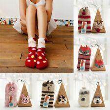 Women Girls Animal Winter Fluffy Warm Bed Sleep Socks Christmas Xmas Gift a Lot