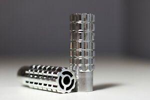 """New BMX Bike Alloy Axle Pegs Thread 3/8"""" 26T 85 mm x 27 mm Silver"""