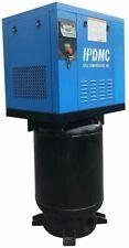 New 230v 3 Phase Rotary Screw Air Compressor 60 Gallon Air Tank With Nail Gun