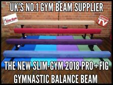 "8FT LONG 6"" HIGH PROFESSIONAL GYMNASTICS GYM BALANCE BEAM 'FAWN FAUX SUEDE'"
