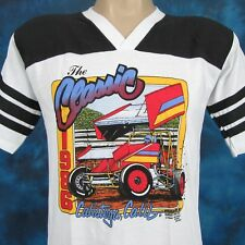 NOS vtg 80s CALISTOGA NARC SPRINT CAR RACING JERSEY T-Shirt S world of outlaws