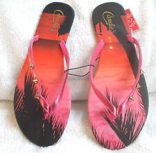 Candie's® Studded Sunset Flip-Flops Women's T-STrap Sandals Shoes Size S 5 - 6
