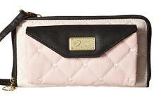 Betsey Johnson Quilted Hearts Blush & Cream Crossbody Clutch Wallet  Bag NWT