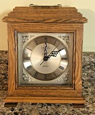 """New ListingLinden Quartz Mantle Clock Wood 9"""" x 7"""""""
