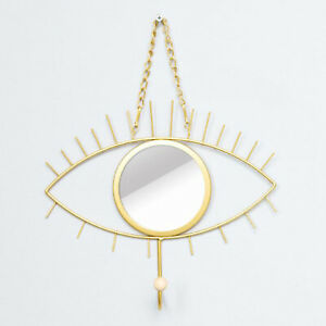 Gold Tribal Eye See You Mirror Wall Hanging Home Decoration Iron Art Wall Décor