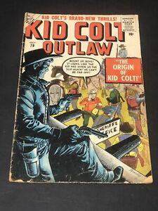 Kid Colt Outlaw #79 Atlas Comics 1959 GD/VG Origin Issue Super Rare HTF!