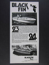 1977 Blackfin 23 24 Combi & Fisherman Boats vintage print Ad