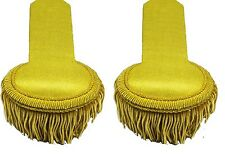 Epaulette Marching Band Shoulder Boards with Fringe in Gold Wire R 1421
