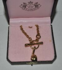 Juicy Couture heart charm toggle necklace jewelry NEW