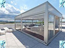 Tenda Veranda invernale con telo Cristal trasparente fornita su misura !! Tende