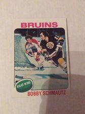 1975-76 Topps Bobby Shmautz Hockey Card vault blank back (1)