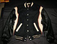 1991 HARLEY-DAVIDSON VARSITY LETTERMAN JACKET Wool & Leather With HARLEY HANGER