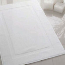 6 NEW WHITE P/C BLEND HOTEL BATH MATS 7# 20X30 SOFT ABSORBENT PLUSH SPA RESORT