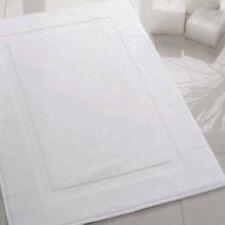 3 NEW WHITE P/C BLEND HOTEL BATH MATS 7# 20X30