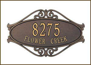 Whitehall Hackley Fretwork Personalized Plaque Address Sign with 3 Color Choices