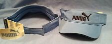 PUMA SPORTS PUMA LOGO CAROLINA BLUE ADJUSTABLE TOUCH FASTENER  VISOR BY PUMA.