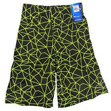 Champion boys Athletic shorts in Black Neon Sun, Size 5/6