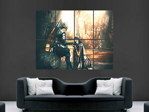 KNIGHT WARRIOR SWORD GIRL FANTASY  GIANT WALL POSTER ART PICTURE PRINT LARGE