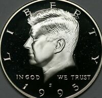 1995 S Kennedy Half Dollar Gem DCAM 90% Silver Proof Condition US Coin