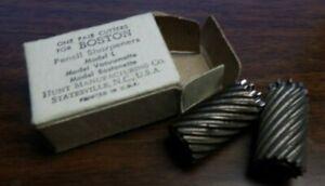 Vintage Boston Pencil Sharpener Cutters Model Vacuumette Bostonette & L NEW NOS